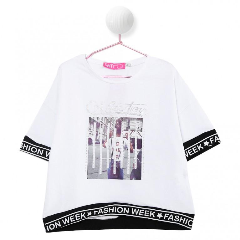 Λευκή Μπλούζα για Κορίτσι 7-14 Ετών