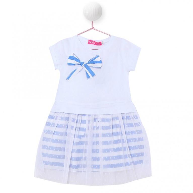 Λευκό Φόρεμα για Κορίτσι 2-6 Ετών