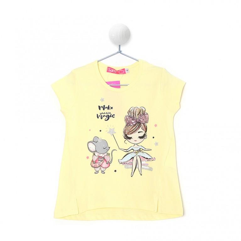 Κίτρινη Μπλούζα Για Κορίτσι 2-6 Ετών