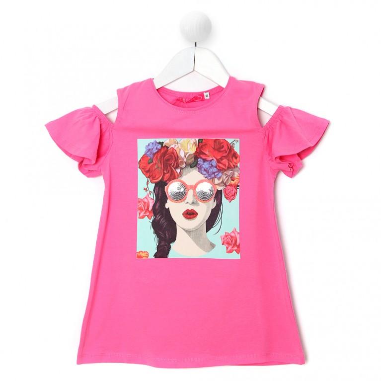 Φούξια Μπλούζα Για Κορίτσι 7-14 Ετών