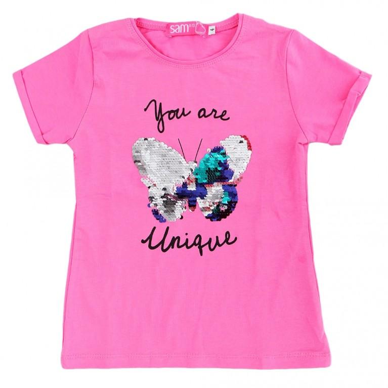 Φούξια Μπλούζα Για Κορίτσι 2-6 Ετών