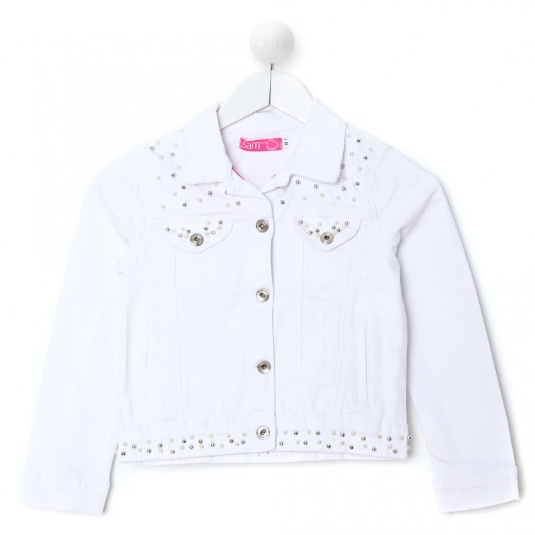 Λευκό Μπουφάν Για Κορίτσι 7-14 Ετών