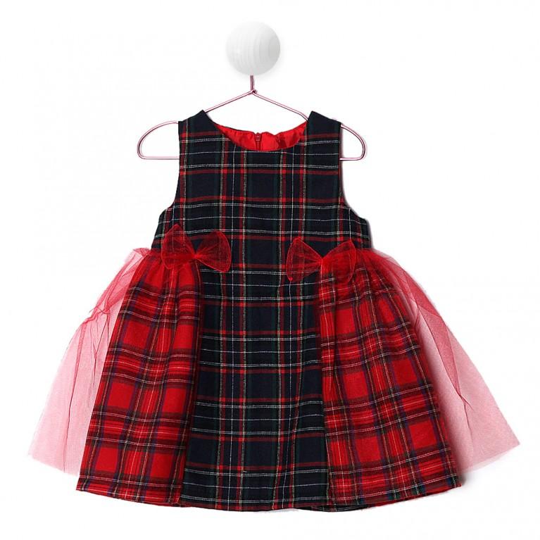 Μπλε Φόρεμα για Κορίτσι 2-6 Eτών