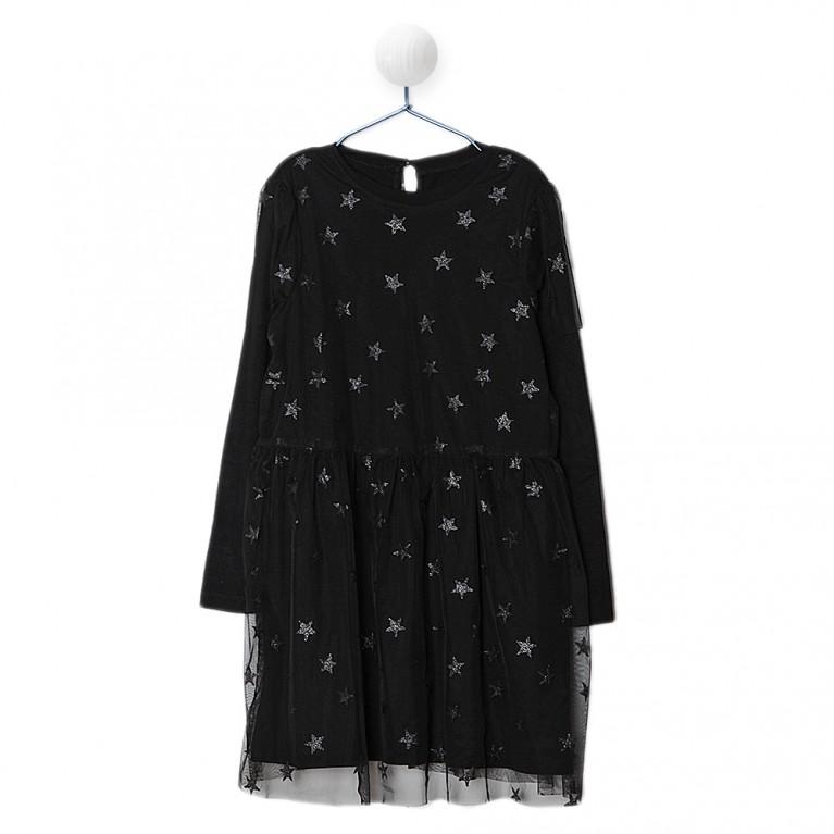 Μαύρο Φόρεμα για Κορίτσι 7-14 Ετών