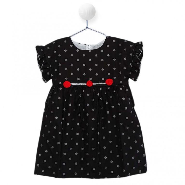 Μαύρο Φόρεμα για Κορίτσι 2-6 Eτών