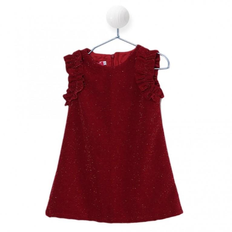 Κόκκινο Φόρεμα για Κορίτσι 2-6 Eτών