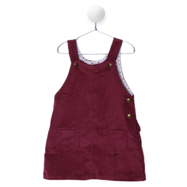 Βυσσινί Φόρεμα για Κορίτσι 2-6 Ετών