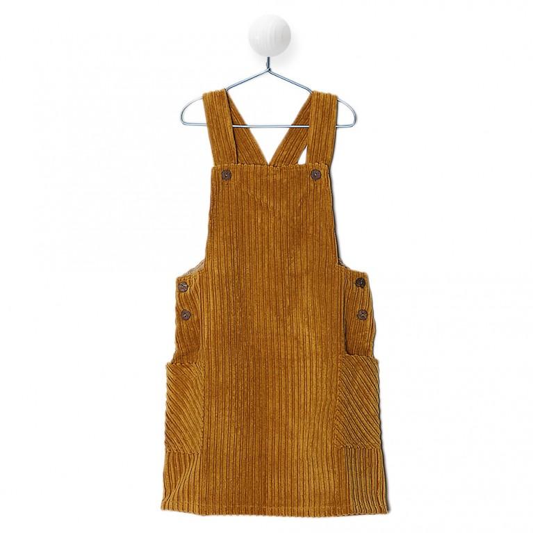 Μουσταρδί Φόρεμα για Κορίτσι 7-14 Ετών