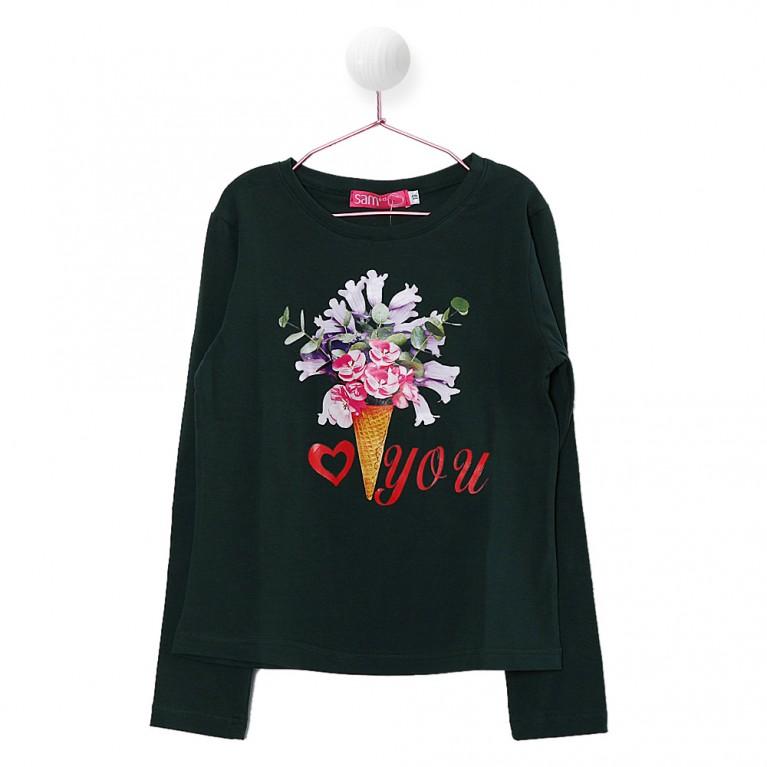 Πράσινο Μπλούζα για Κορίτσι 7-14 Eτών