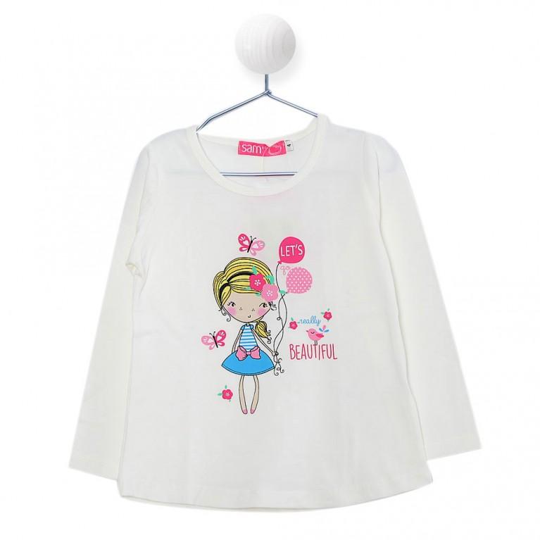 Εκρού Μπλούζα για Κορίτσι 2-6 Eτών