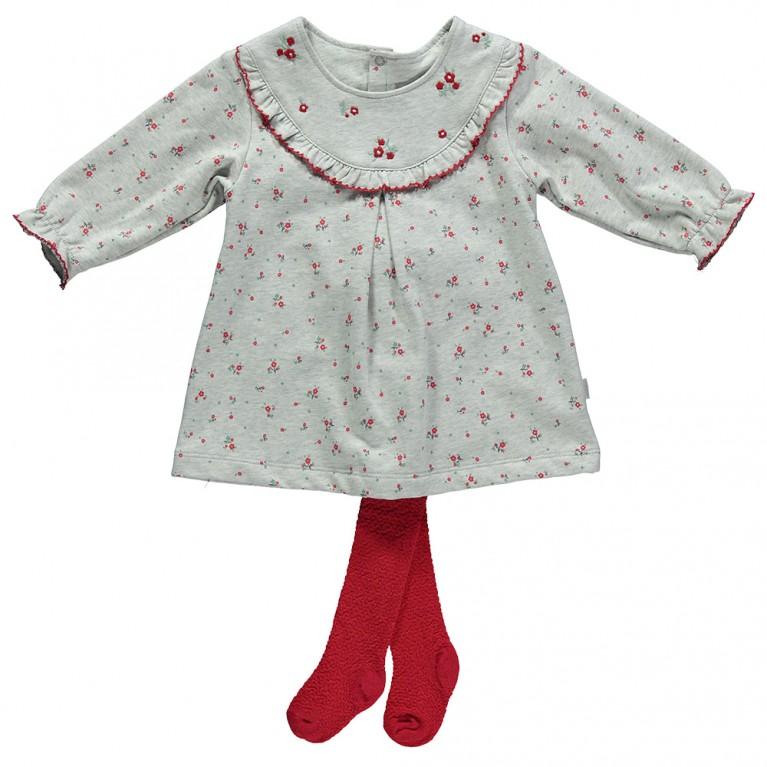 Γκρι Φόρεμα για Κορίτσι Βρεφικό