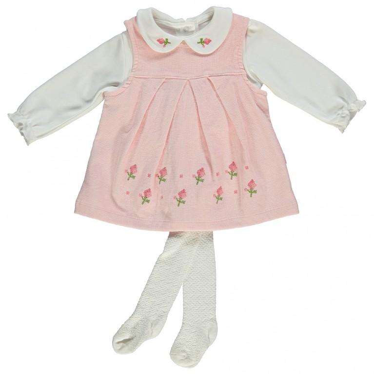 Ροζ Φόρεμα για Κορίτσι Βρεφικό