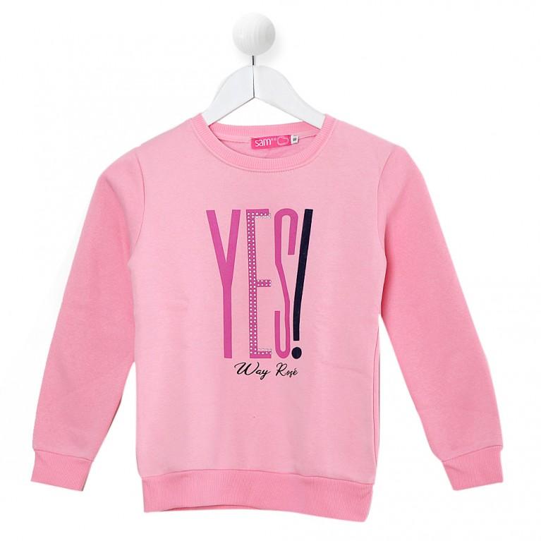 Ροζ Μπλούζα για Κορίτσι 7-14 Eτών