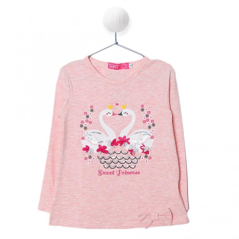 Ροζ Μπλούζα για Κορίτσι 2-6 Eτών