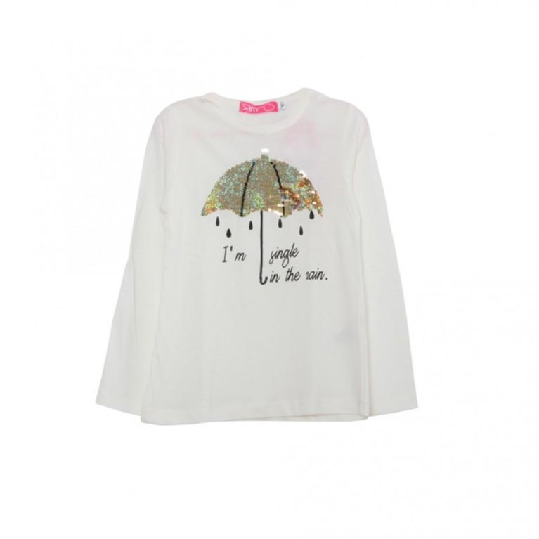 Εκρού Μπλούζα για Κορίτσι 2-6 Ετών