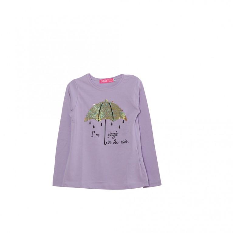 Λιλά Μπλούζα για Κορίτσι 2-6 Ετών