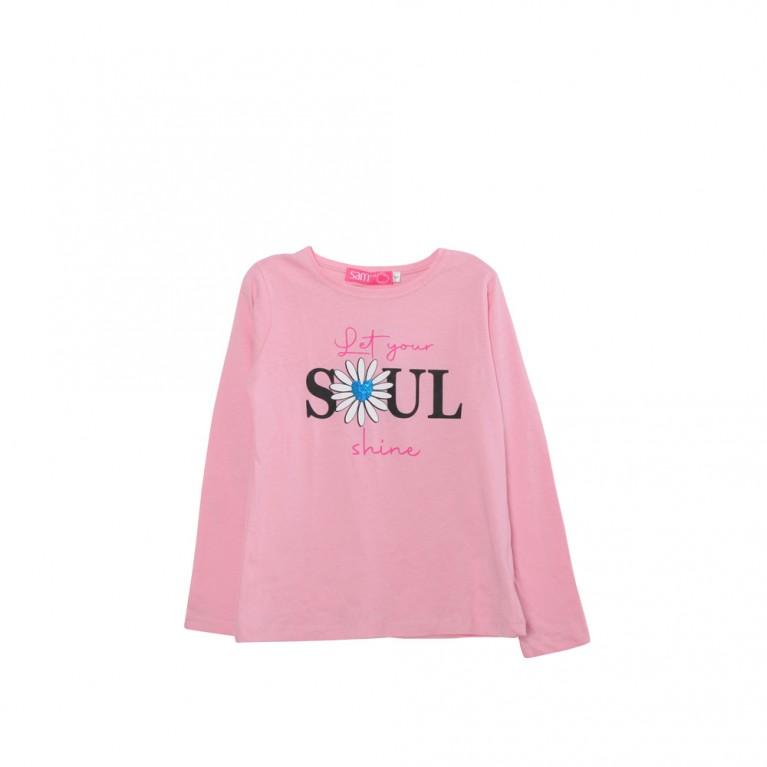 Ροζ Μπλούζα για Κορίτσι 2-6 Ετών