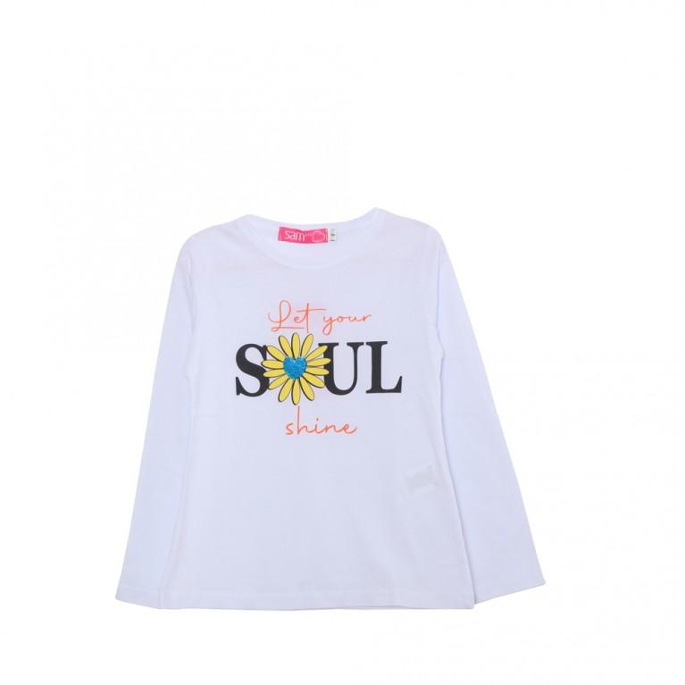 Λευκό Μπλούζα για Κορίτσι 2-6 Ετών