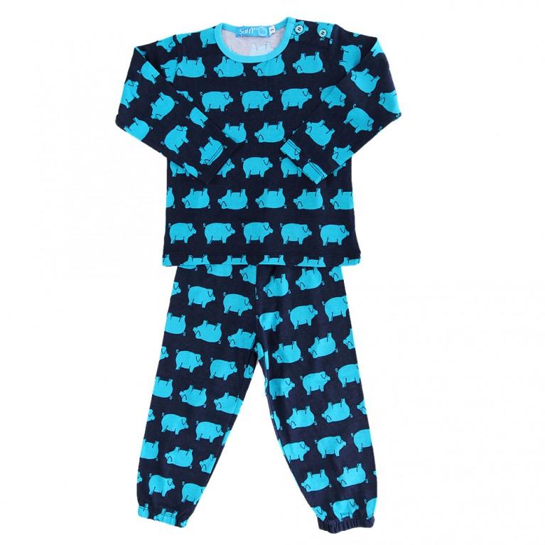 Μπλε Πυτζάμα για Αγόρι 2-6 Ετών