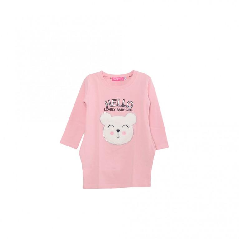 Ροζ Φόρεμα για Κορίτσι 2-6 Ετών