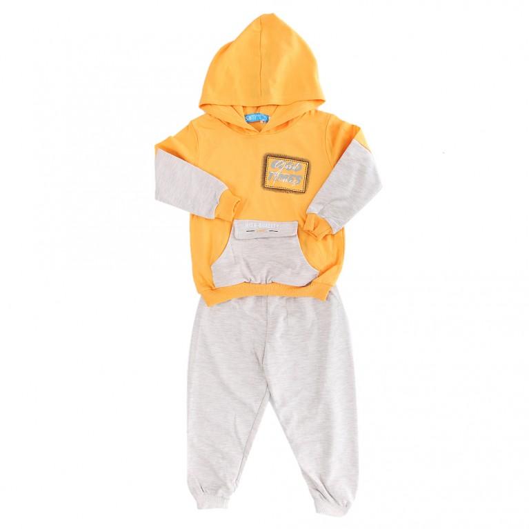Κίτρινη Φόρμα για Αγόρι 2-6 Ετών