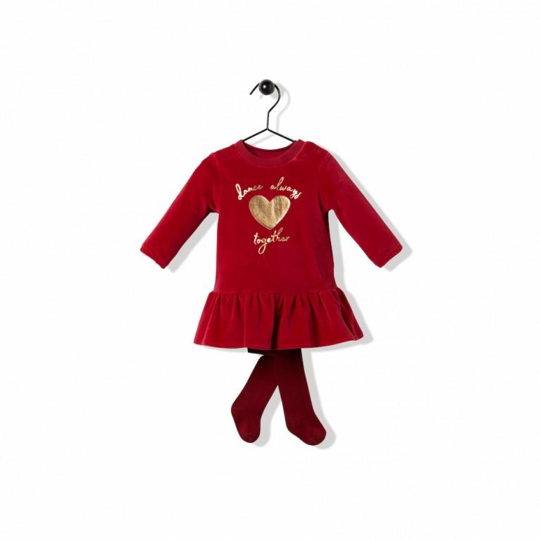 Μπορντό Φόρεμα Για Κορίτσι Βρεφικό