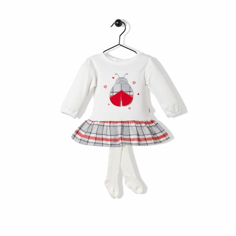 Εκρου Φόρεμα Για Κορίτσι Βρεφικό